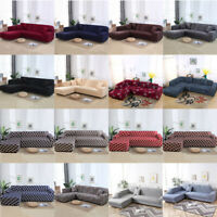 Sofa Covers Polyester Fabric Stretch Slipcovers for L Shape Sectional sofa US