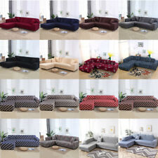 2pcs Stretch Sofa Cover for L Shape Sectional Corner Couch Protector Slipcover