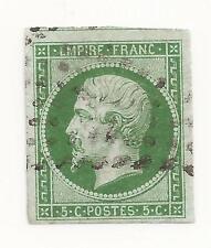 Napoleon N° 12  vert foncé cote 275 € marge XXL avec voisin en nord léger clair