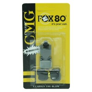 Fox80 Classic CMG Whistle with Lanyard Football Referee-Coach Safety 13488