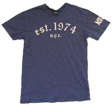 KISS EST 1974 NYC REVERSE SS LOGO BLUE T SHIRT SMALL NEW OFFICIAL BAND MERCH