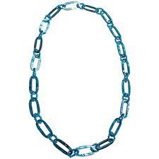 "Aluma - NIB - $79 - Blue Quartzite Mother-of-Pearl Shell Necklace - 36"""
