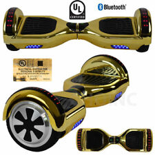 "Chrome Gold 6.5"" Electric Self-Balancing Scooter Hoverboard UL2272 Certified+led"