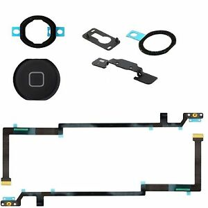 For iPad Air Home Button Flex Cable With Seal & Bracket Black