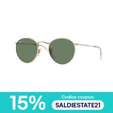 Ray Ban Occhiali da sole sunglasses hot RB3447 ROUND METAL oro verde g15 001