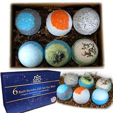 Bath Bombs Gift Set For Men-Relaxing Epsom Salt, Organic Essential Oils Usa Made