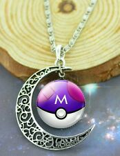 Pokemon Moon Masterball Pokéball Necklace Silver Chain Pikachu Pokémon Go USA