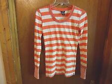 "Womens / Girls Rue 21 Size Small Long Sleeve Pink / White Striped Top "" BEAUTIFU"