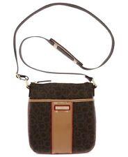 NWT Calvin Klein Handbag Monogram Crossbody H2GEJ096 Brown Multi Logo Purse Bag