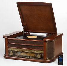 Retro Holz Radio Nostalgie Schallplattenspieler Musikanlage HiFI Kompaktanlage