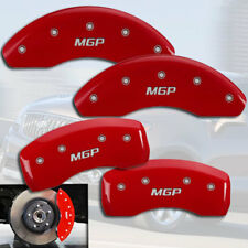 """2010-2016 Buick LaCrosse Front + Rear Red """"MGP"""" Brake Disc Caliper Covers"""