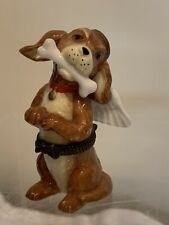 Midwest Of Cannon Falls Dog With Bone Angel Trinket Box Rare Vintage Cute
