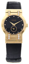 VERSACE Madison Ladies 18K Yellow Gold Watch Excellent MSRP $7900.00