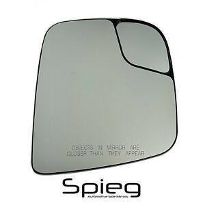 Side Mirror Glass for 13-20 Nissan NV200 15-18 City Express w/ Spotter Passenger