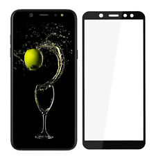 Samsung Galaxy A6 2018 Panzerfolie Schutzglas Schutzfolie 9H Glasfolie schwarz