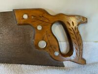 """Vintage Disston & Sons Wheat Pattern Handsaw, 28"""", print on Blade 4TPI, A815"""