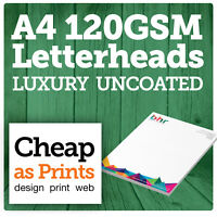 A4 Letterheads | Printed on Premium 120gsm paper | Business Stationery Printing