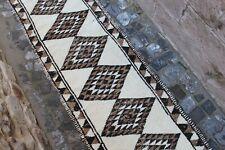 """Vintage Handmade Turkish Oushak Runner Rug 12'1""""x2'8"""""""
