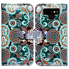 Bcov Paisley Mandala Flower Wallet Leather Cover Case for Samsung Galaxy