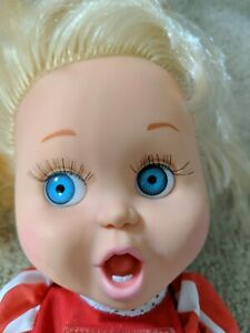 """So Surprised Suzie Baby Face Doll By Galoob, 1990, 13"""" Tall LGTI"""