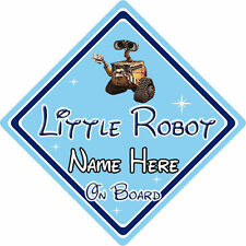 Personalised Little Robot On Board Car Sign – Baby On Board – Disney Wall-E