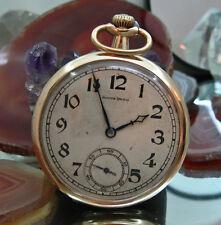 Reloj de bolsillo South Bend 19 joyas Cal 429 EE. UU. PANAMA Micron Plateado caso en funcionamiento