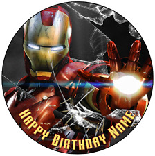 EDIBLE Iron Man Marvel Birthday Party Wafer Paper 19cm (uncut)