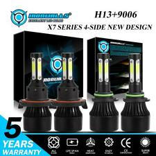 H13 9008+9006 4-Side LED Headlight Fog Bulbs for Dodge Ram 1500 2500 3500 06-09