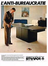 PUBLICITE ADVERTISING 094  1979  STRAFOR   mobilier de bureau