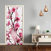3D Wall Sticker Decoration Self Adhesive Door Wall Mural Flowers Plum flowers
