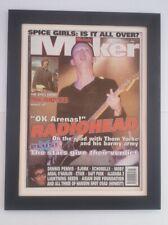 More details for radiohead*ok arenas*1997*original*cover*quality framed*fast world ship