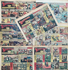 WOW! Seven SUPERMAN Sunday Comic Strips by Siegel and Schuster - 1940