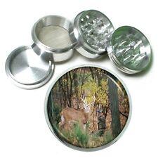 Deer Aluminum Grinder D2 63mm 4 Piece Stag Horned Buck Forest Animal Hunter