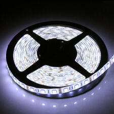 Bright 12V 5M Cool White LED Strip Tape Light SMD5050 Under Cabinet No Adapter
