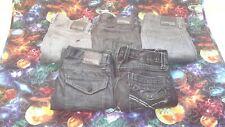 LOT of 5 BUNDLE Mens Designer BKE Fulton Express Rocco Slim Jeans Size 30 x 30