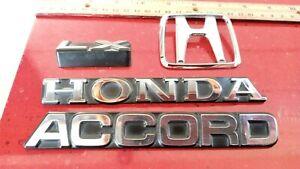 Genuine 1982-1983-1984-1985 Honda Accord LX Trunk Lid Emblem Badge Nameplate oem