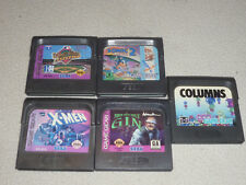 Sega Gamegear Game Cartridge Lot Sonic 2 Xmen Pauls Gin World Series Columns >>