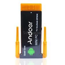 CX919 Android 4.4 Mini PC Box TV Stick Quad Core 2GB 8GB BT Dual External WiFi
