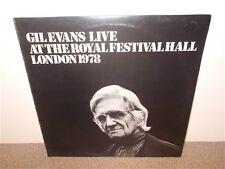 * Gil Evans . At The Royal Festival Hall London 1978 . Promo . UK . LP