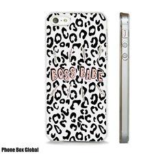 Nuevo jefe Bebé Animal Print Caso se adapta iPhone 4 4S 5 5S 5C 6 6S 7 8 se Plus X