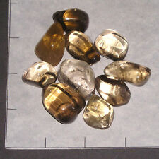 CITRINE & SMOKY CITRINE Natural sm-lg tumbled 1/4 lb bulk stones pale-dark
