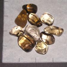 CITRINE & SMOKY CITRINE Natural sm-lg tumbled 1/4 lb bulk stones pale-dark
