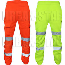 Hi Viz Vis High Visibility Trouser Fleece Safety Jogger Bottom Workwear Trouser
