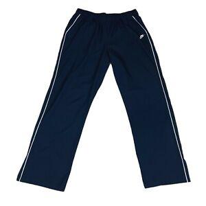 Nike Dri Fit Mens Activewear Running Training Warmup Pants Navy Blue White XL
