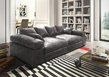 Big Sofa Couchgarnitur Megasofa Riesensofa AREZZO - Vintage Schwarz