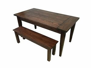 Red Mahogany Lodge Table (Rustic Harvest Farmhouse Kitchen Dinning Table)