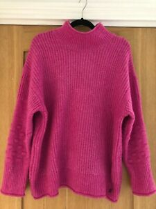 Joules 2020 Womens Kalia Bubble Stitch Sleeve Jumper - Hot Pink - 12