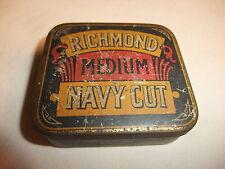 alte leere Blechdose Tabakdose Dose Werbung Reklame Richmond Medium Navy Cut