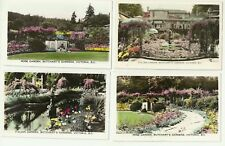 GREAT LOT OF 7 BUTCHART'S GARDENS, VICTORIA, B.C., CANADA REAL PHOTO POSTCARDS