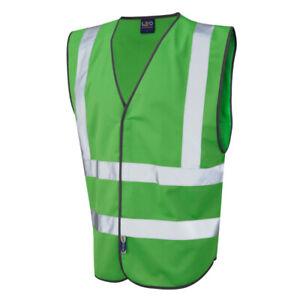 Green Hi Vis High Viz Visibility Vest Safety Waistcoat Jacket S - 3XL
